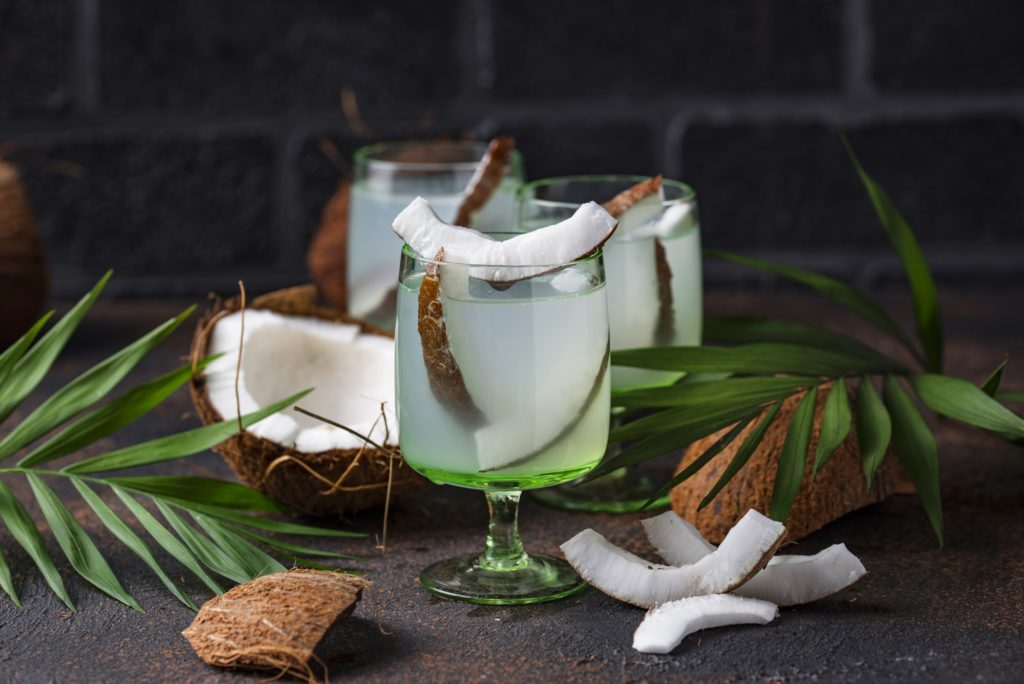 Natural healthy fresh coconut water